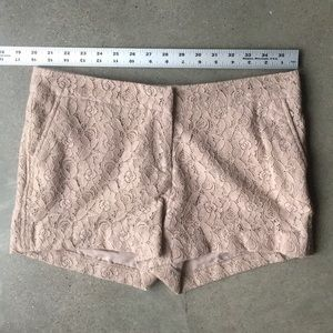 Tan Lace Dress Shorts